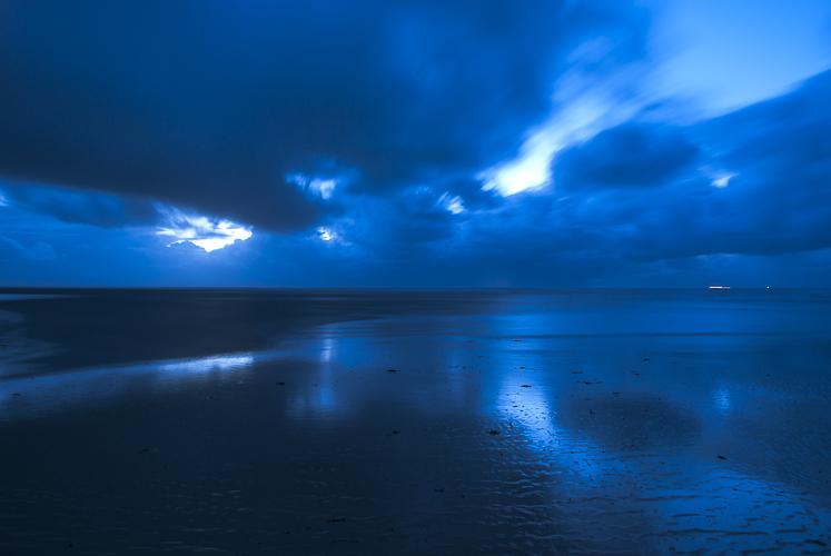 Tag 50 Blaue Stunde im Wattenmeer